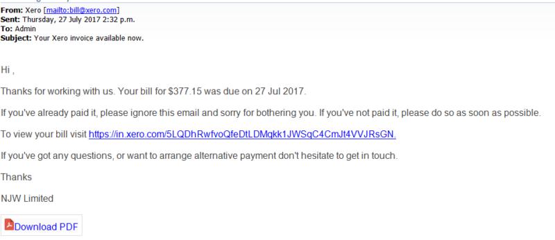 Fake Xero Invoice Emails Dyke Yaxley Shrewsbury - Invoice email example